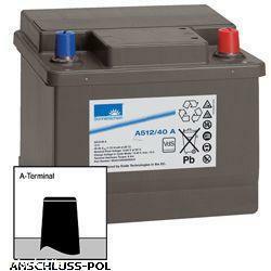 Exide Sonnenschein Bleiakku Dryfit A512/40A 12,0Volt 40,0Ah Anschluss A-Pol