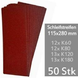 Schleifstreifen f. Schwingschleifer 115x280 mm - 50er Sparpack Universal-Schleifpapier