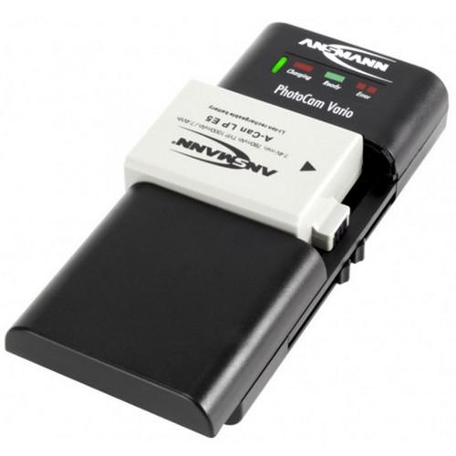 Ansmann PhotoCam Vario Ladegerät für Li-Ion/Li-Po Akkupacks oder 2 Mignon AA oder Micro AAA NiMH Akk