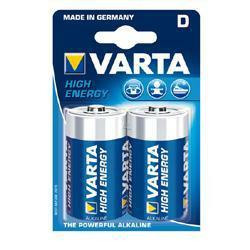Varta 4920 High Energy Batterien Mono (D) im 2er Blister