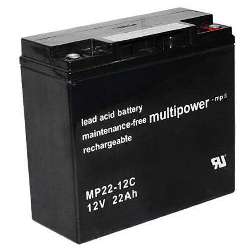 MultiPower Bleiakku MP22-12C Zyklen-Type 12 Volt 22 Ah mit M6-Schraubanschluss