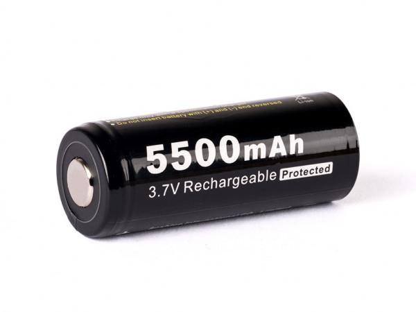 Soshine 26650 Li-Ion-Akku 5500mAh 3,6V/3,7V, geschützt