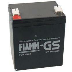 Fiamm Hochstrom Bleiakku 12FGH23 (FGH20502) 12 Volt 5,0 Ah mit 6,3mm Steckanschlüssen