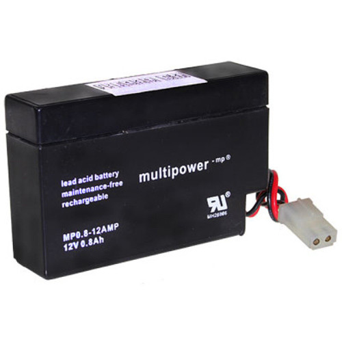 Multipower Bleiakku MP0.8-12 12,0Volt 800mAh Kabel mit AMP Buchse