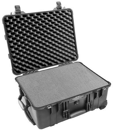 Peli 1560 Schutzkoffer, Case schwarz mit Würfelschaum