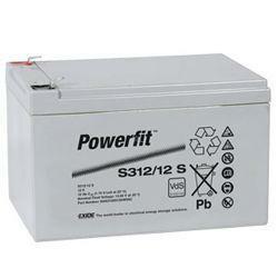 Exide Bleiakku Powerfit S312/12S 12,0Volt 12Ah mit 4,8mm Steckanschlüssen