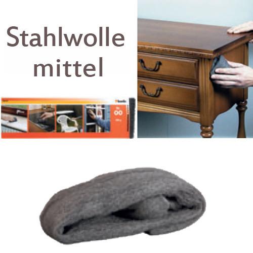 Mittelfeine Stahlwolle Nr. 01, 200g - für Metall und Holz