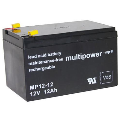 Multipower MP12-12 Bleiakku 12,0Volt 12,0Ah mit 4,8mm Steckanschlüssen