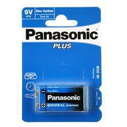 Panasonic 9V Block 6F22B Batterie 6AM6 ZN/C 9,0Volt im 1er Blister