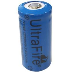 UltraFire 16340 RCR123A Akku Test, erreichte Zeit: 17 Min.