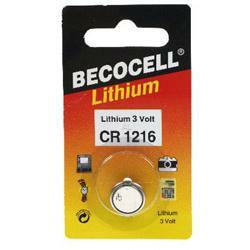 Beco CR1216L Lithium Knopfzelle 3,0 Volt 27mAh