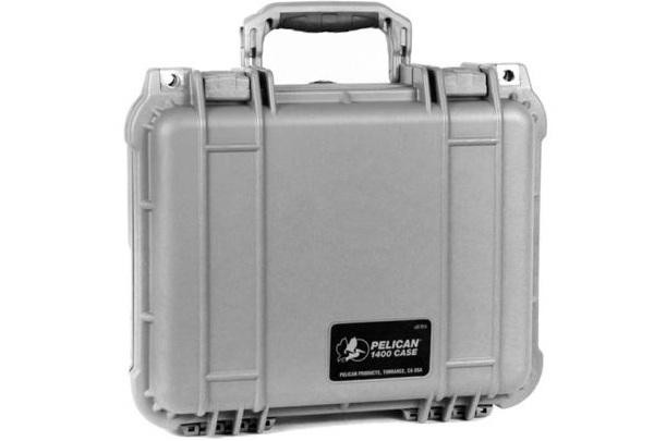 PELI 1400 Schutzkoffer, Case silber mit Würfelschaum