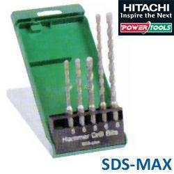 HiKoki HM-Hammerbohrer-Set SDS-plus, Durchm.: 5/6/8 x 110 mm + Durchm.: 6/8 x 160 mm, 2-Schneider