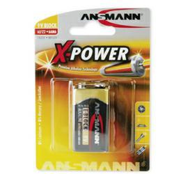 Ansmann X-Power Alkaline 9V-Block 6AM6 AlMN Batterie im Blister - 1 Stück