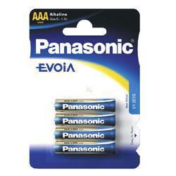 PANASONIC Fotobatterie Evoia LR03 im 4-er Blister 1,5Volt Micro AAA Batterie, LR03EE/4BP