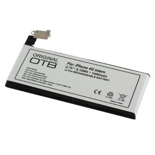 Akku passend für Apple iPhone 4 3,7Volt 1400mAh Li-Poly (kein Original)