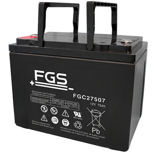 FGS Bleiakku FGC27507 Zyklen-Type 12,0 Volt 75 Ah mit M6-Schraubanschlüssen