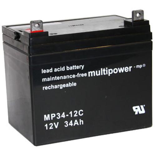 Multipower Bleiakku MP34-12C Zyklen-Type 12 Volt 34Ah mit M6-Schraubanschluss