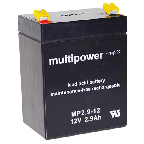 MultiPower Bleiakku MP2.9-12 12,0Volt 2,9Ah mit 4,8mm Steckanschlüssen
