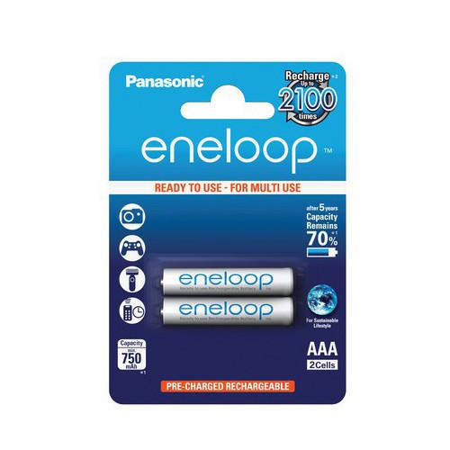 Panasonic Akku Eneloop Micro BK-4MCCE NiMH 1,2Volt 750mAh im 2er Blister