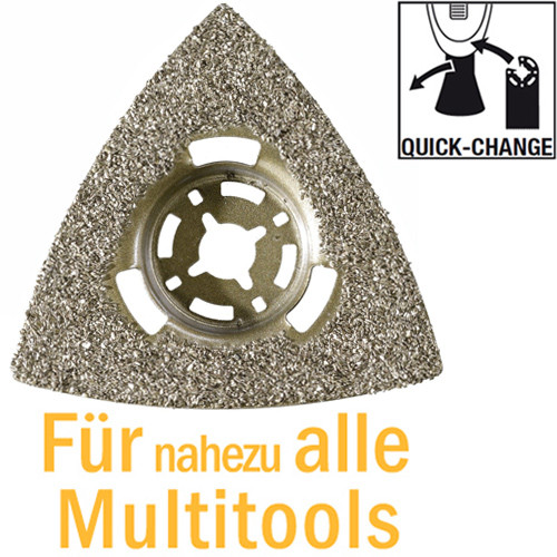 HM-Raspel Ø 80 mm, Hartmetall bestreut für Multitools, mit Quick-Change