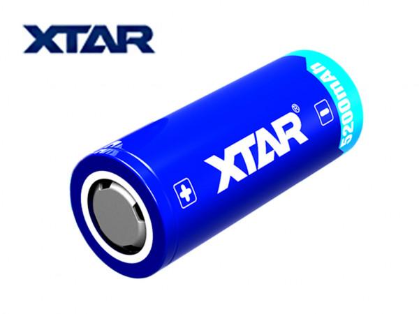 XTAR 26650 - 5200mAh Li-Ion Akku 3,6V/3,7V, geschützt