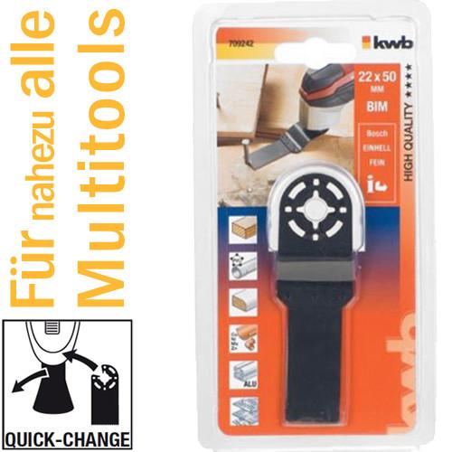 Bi-Metall Tauchsägeblatt 22 mm für Multitools, mit Quick-Change