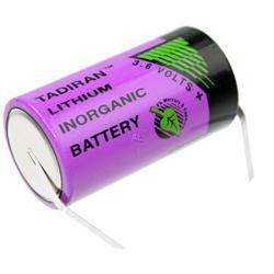 TADIRAN Lithium Batterie SL-2770T Baby Batterie mit 3,6 Volt mit Lötfahne in U-Form