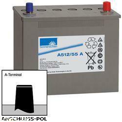 Exide Sonnenschein Bleiakku Dryfit A512/55A 12,0Volt 55,0Ah Anschluss: A-Pol