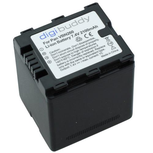 Akku passend für Panasonic VW-VBN260 7,4Volt 2.100mAh Li-Ion (kein Original)