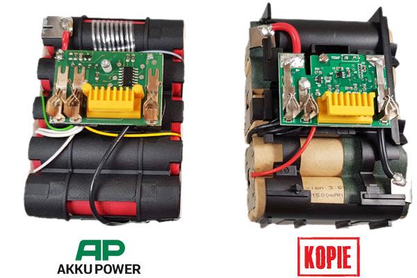 18V Akkublock mit Schutzelektronik