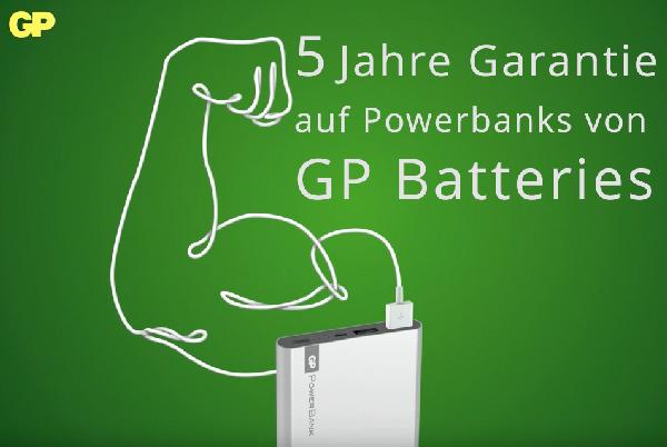 GP Powerbank mit 5 Jahre Garantie